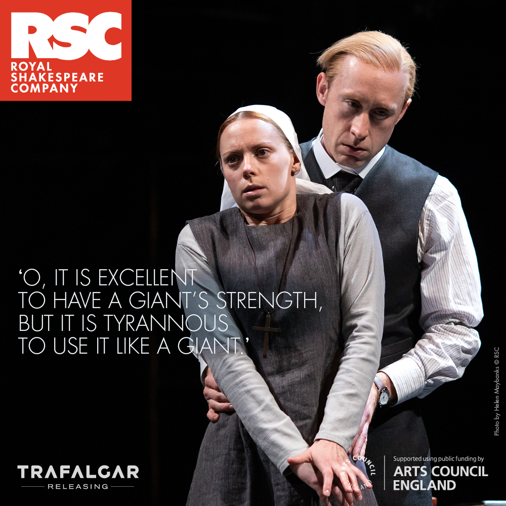 VICE AND VIRTUE ON THE BIG SCREEN AS RSC PRESENT 'MEASURE FOR MEASURE'